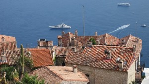 Village of Eze known for perfumers on the french riviera